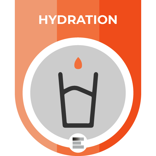 Hydration badge