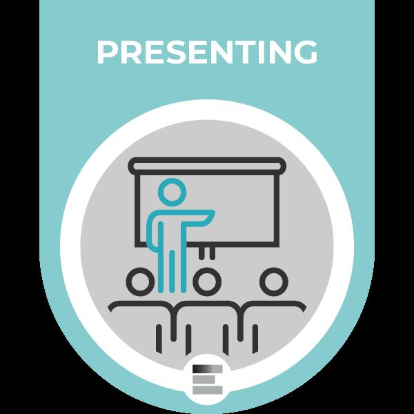 Presenting badge
