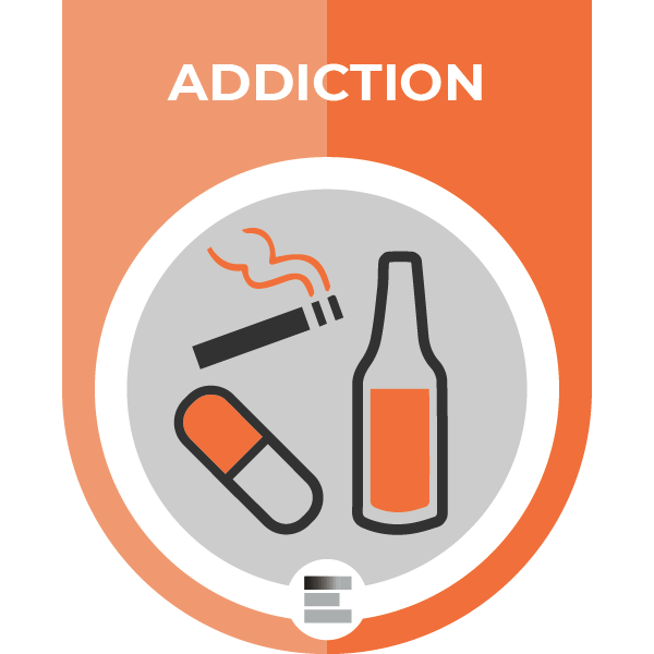 Addiction badge
