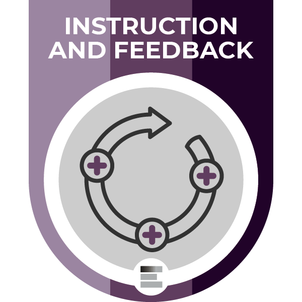 Instructions and Feedback badge