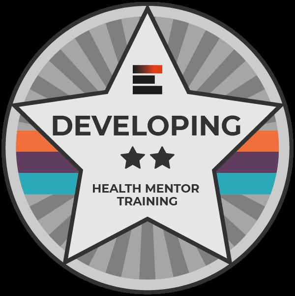 Developing badge