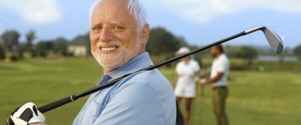 Geoff playing golf